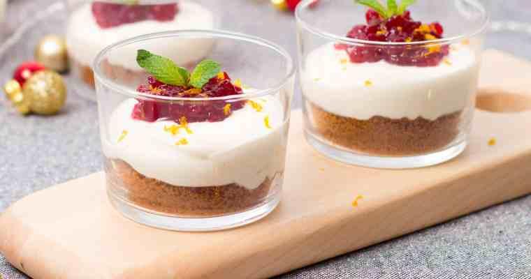 Kerstmenu: no-bake cheesecakes met speculaas