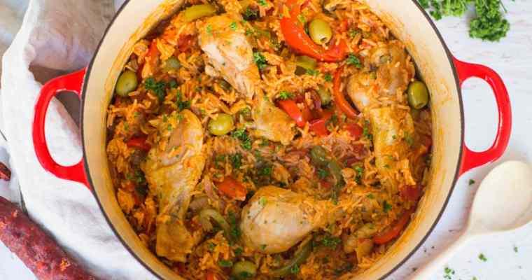 Eenpotsrijst met kip & chorizo
