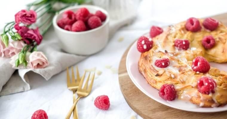 Framboos & cheesecake krans