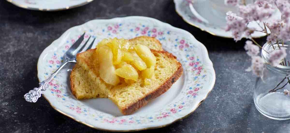 Wentelteefjes met gekaramiliseerde appels zonder suiker