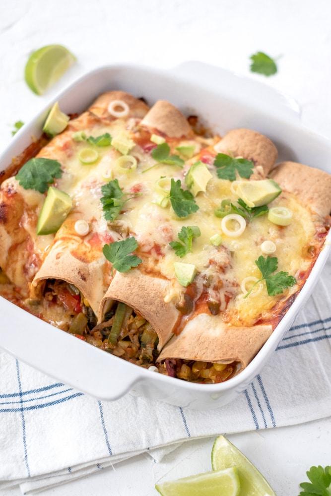 gemakkelijke en gezonde enchiladas