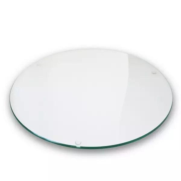 plateau verre clair diametre 130cm