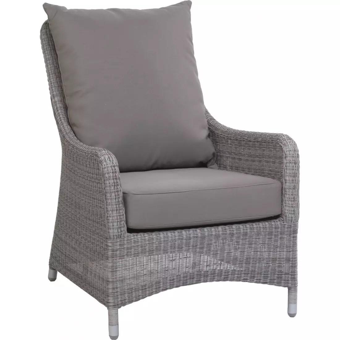 fauteuil jardin resine galet transat