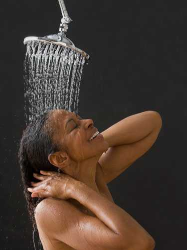 Image result for black woman taking a shower