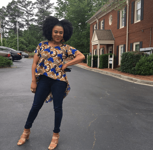 Stella Damasus Opts For An African Print Street Style 3