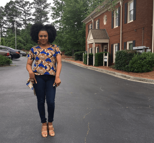 Stella Damasus Opts For An African Print Street Style 1