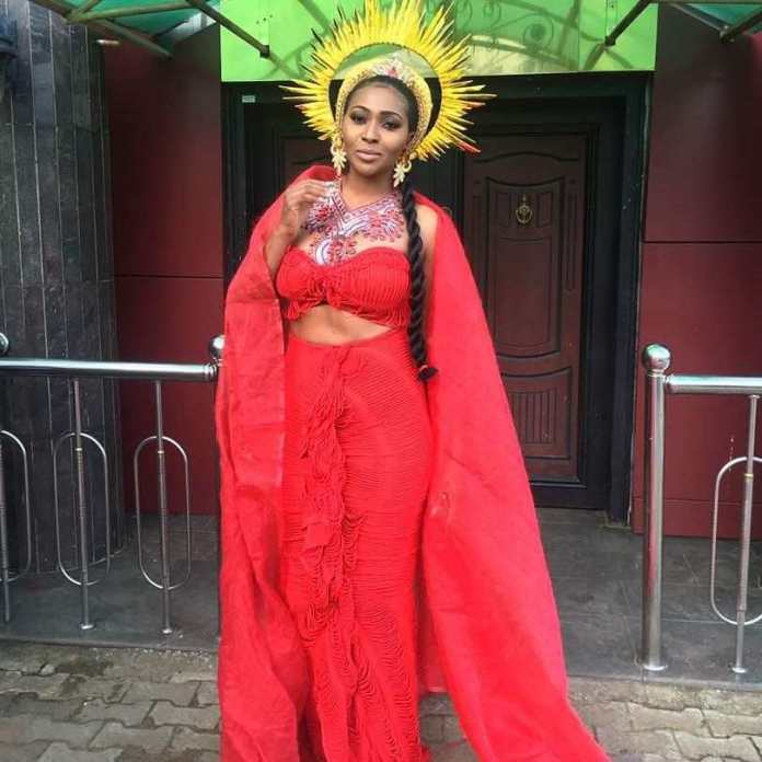 """Lilian Esoro Turns Goddess Of Wealth In Colourful Costumes For """"Somto"""" Movie 5"""