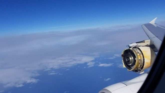 Drama As Engine Of Air France Flight From Paris To Los Angeles Destroyed Over The Atlantic 1