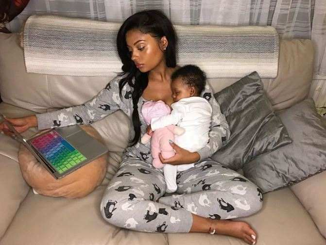 Image result for Tekno's daughter with lola rae