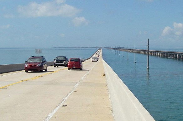 The Seven Mile Bridge. Since I always drive, I don't have any pics of the Seven Mile Bridge of my own, so this one is courtesy of Lightenoughtravel via Wikipedia.