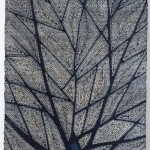 2012 藍染絞布 春日 203×129.5