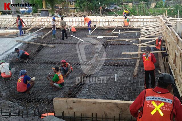 Pembuatan kolam renang di hotel