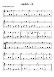 Hatırla Sevgili Piyano Notası