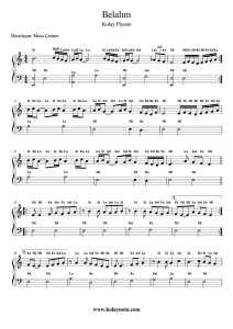 Belalım - Kolay Piyano Notası