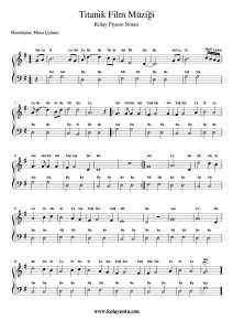 Titanik - Kolay Piyano Notası