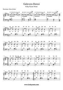 Gelevera Deresi - Kolay Piyano Notası