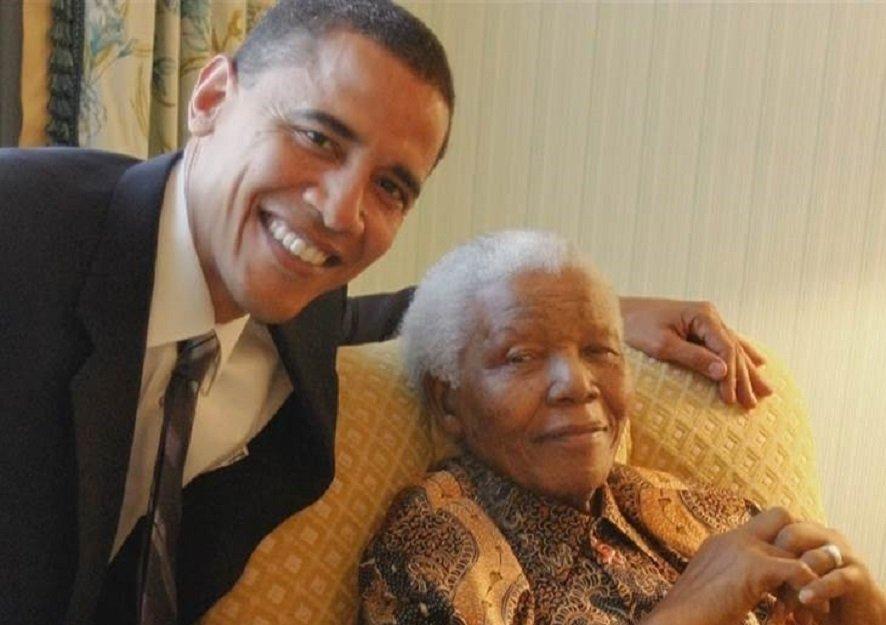 """Résultat de recherche d'images pour """"Barack OBAMA et Nelson Mandela"""""""