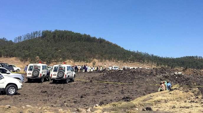 L'avion s'est écrasé àBishoftu, une soixantaine de kilomètres d'Addis-Abeba.