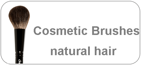 cosmetic brushes made of natural hair
