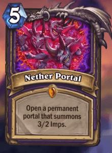 Nether portal hearthstone