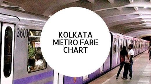 kolkata metro fare chart