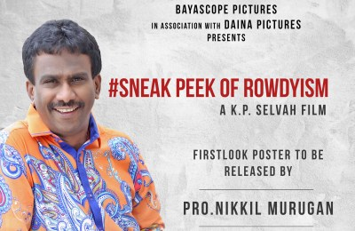 Sneak Peek Of Rowdyism First Look Poster Release Today By 4 Pm