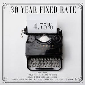 Fixed mortgage rate