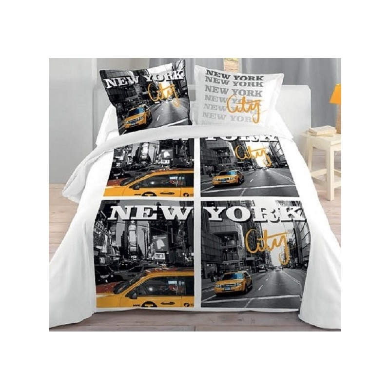 new york city housse couette 2 taies