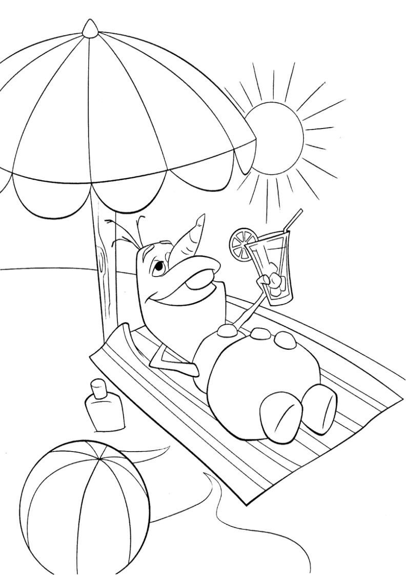 Frozen Olaf Coloring Page Baby Disney Printable Kids Ana Kristoff