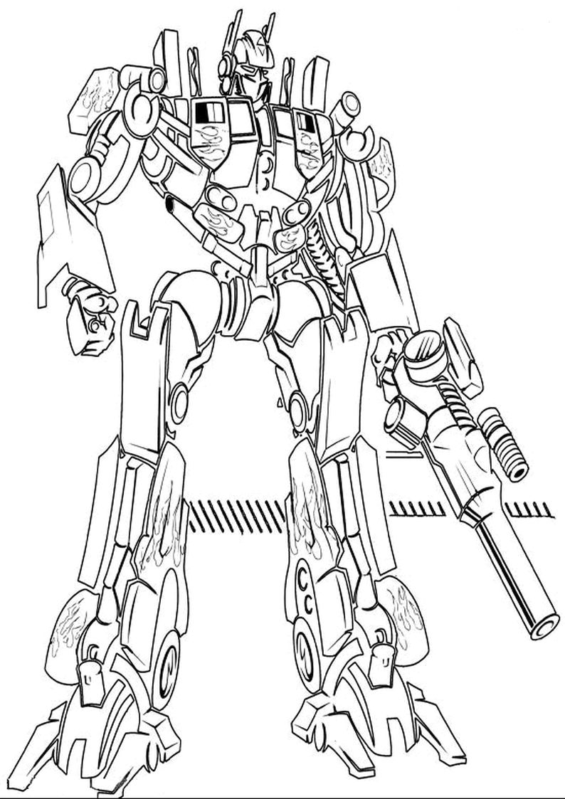 Transformers Prime Coloring Pages Optimus Prime By Joyfulmusic On