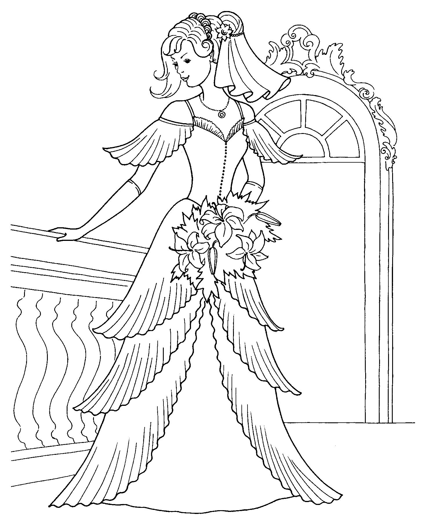 dla dziewczyn kolorowanka księżniczki dama z kwiatami