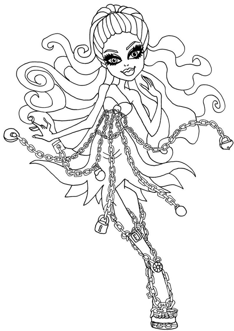 Kolorowanka Spectra Haunted Monster High Nr 11