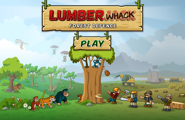 Title screen - Side-scroller defense game for iPhone, game for iPad, game apps for Android