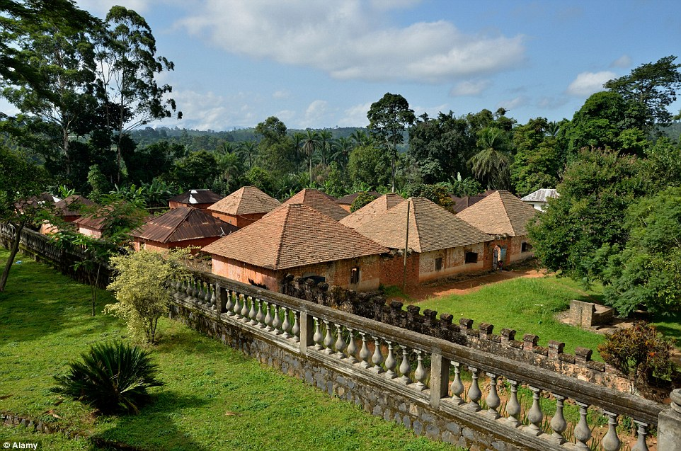 Bafut Palace in Cameroon, which is the seat of King Abumbi. The palace is a major tourist attraction and is listed as one of the world's most endangered sites
