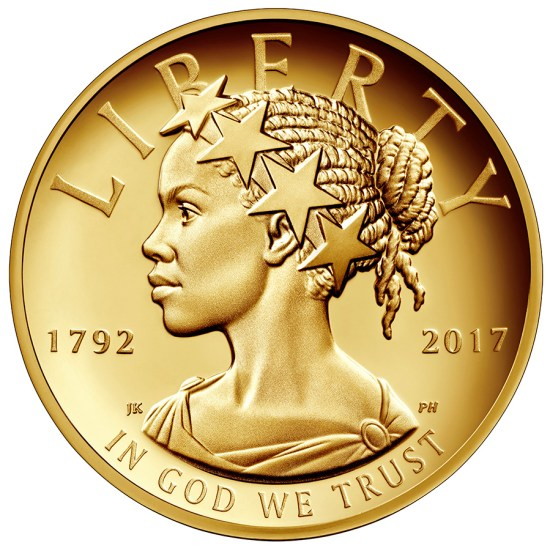African American Lady Liberty, Commemorative Gold Coin, KOLUMN Magazine, KOLUMN