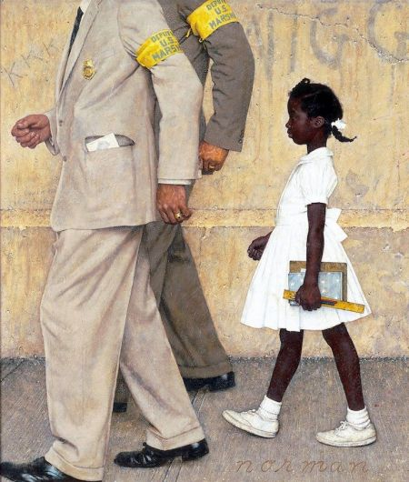 African American Education, Black Education, Brown v Board of Education, Segregation, Desegregation, KOLUMN Magazine, KOLUMN, Norman Rockwell