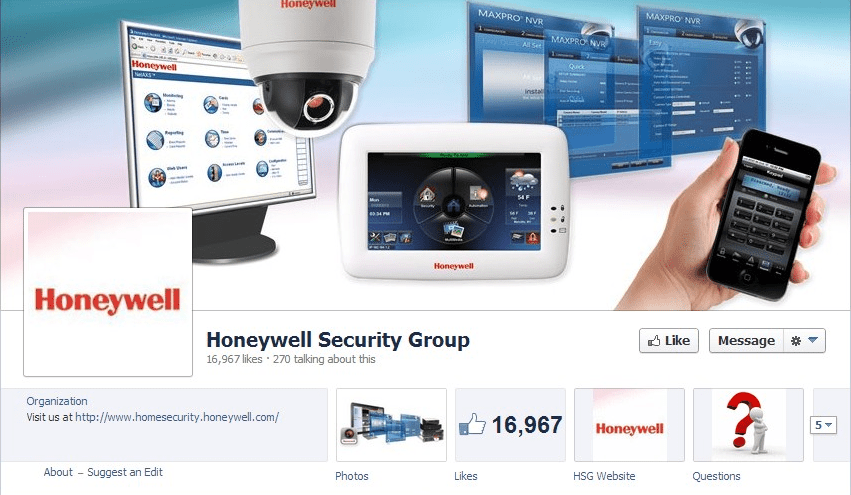 Honeywell Security Facebook