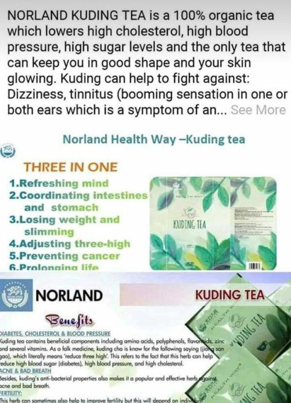 Organic Norland Kuding Tea For Sale In Nigeria