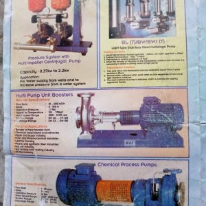 Pressure System With Multi-Impeller Centrifugal Pumps