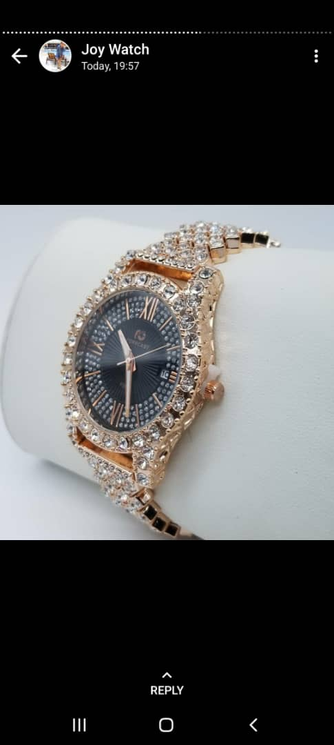 Best women's Iced Stone Wrist Watch For Sale
