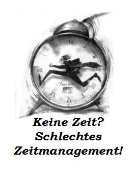 Ein konsequenter Zeitmanager ist jemand, der sich in jeder Ecke selbst verhaftet.