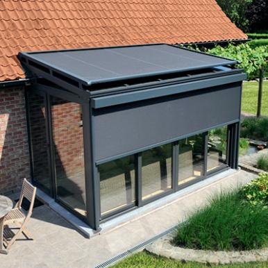 pergola aluminium a toit vitre toit de