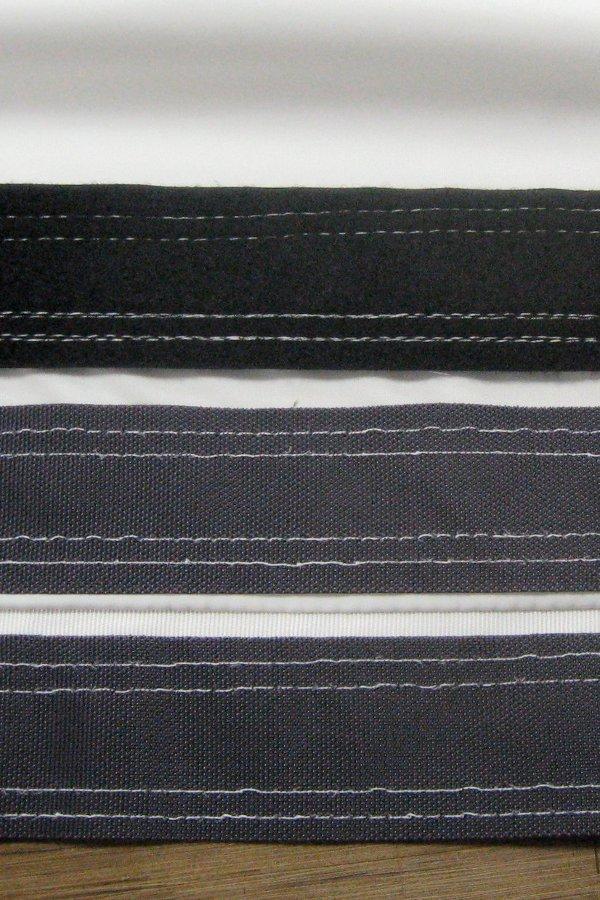 Filter belt closure closeup