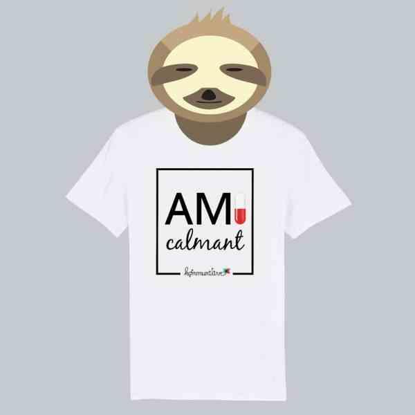 T-shirt blanc à manches courtes Ami Calmant / Amicalement
