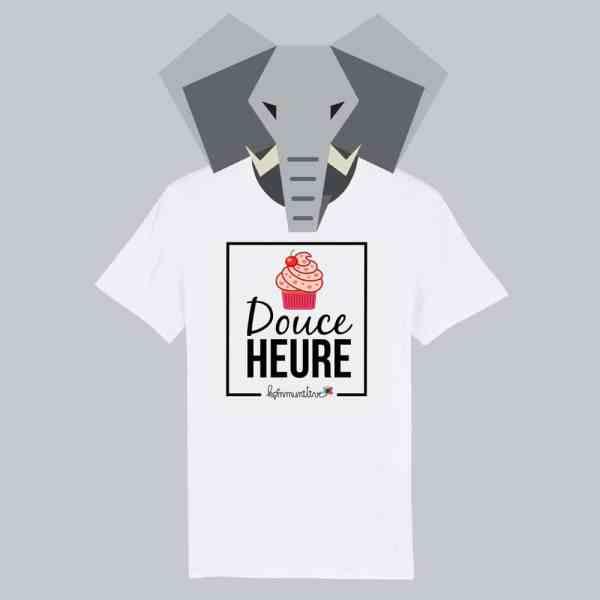 T-shirt blanc à manches courtes Douce Heure / Douceur