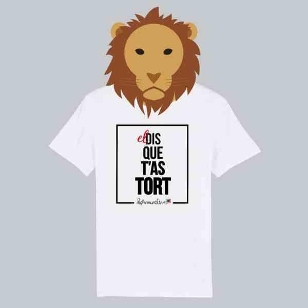 T-shirt blanc à manches courtes El Dis Que T'As Tort / El Dictator