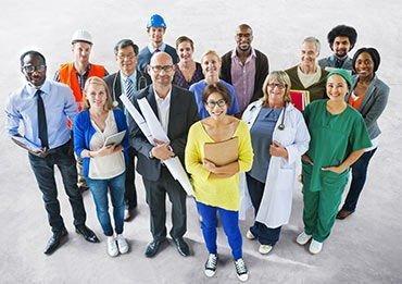 werknemers in de gezondheidszorg