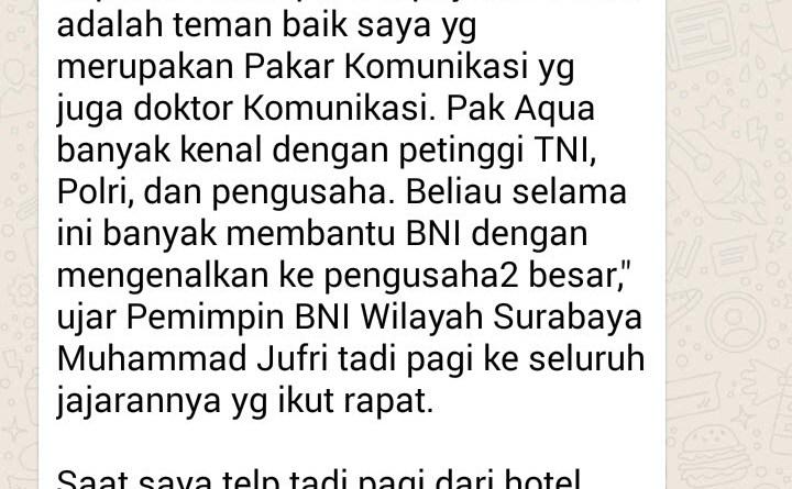Hargai Teman, Pemimpin BNI Wilayah Surabaya Muhammad Jufri Jawab Telepon saat Rapat