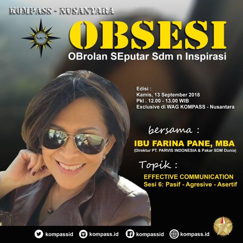 Program OBSESI KOMPASS Nusantara 13 September 2018