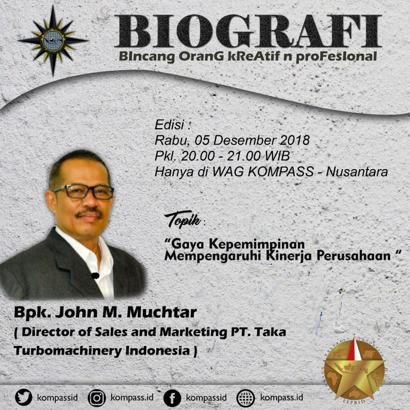 Program Biografi KOMPASS Nusantara 5 Desember 2018
